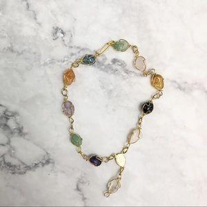 Bohemian gemstone bracelet